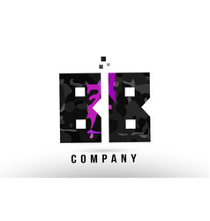 Purple black alphabet letter bb b b logo vector
