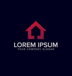 purple house logo design concept template vector image