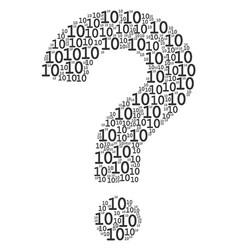 Question mark mosaic ten digits texts vector