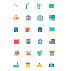 Real Estate Flat Icons 6 vector