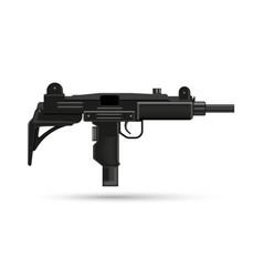 realistic weapons uzi automatic gun 3d military vector image