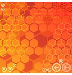 Red digital background vector image