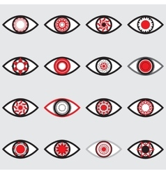 Red Eye Icons vector