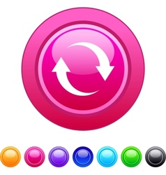 Refresh circle button vector image