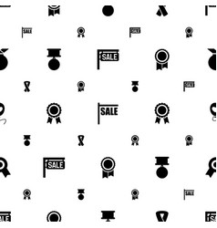 ribbon icons pattern seamless white background vector image