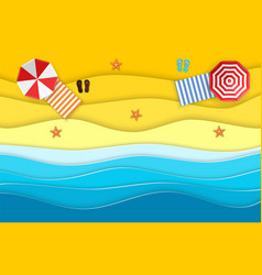 Sea landscape with beach vector