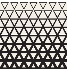 Seamless White And Black Triangle Halftone vector image