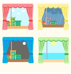 set of four windows vector image