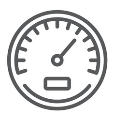 Speedometer line icon data and analytics vector