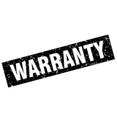 Square grunge black warranty stamp vector