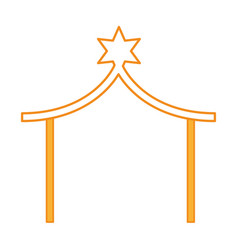 Stable manger isolated icon vector