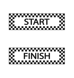 Start and finish flag set vector