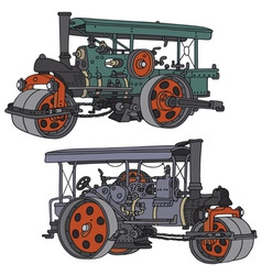 Steam roller vector