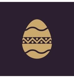 The egg icon Easter egg symbol UI Web Logo vector image