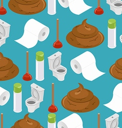 Toilet seamless pattern Toilet and plunger Shit vector image