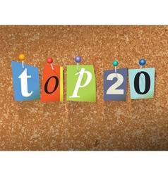 Top 20 concept vector