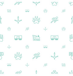 Track icons pattern seamless white background vector