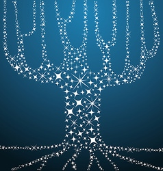 Tree of life stars concept vector image