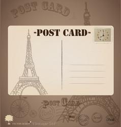 Vintage postcard designs vector image