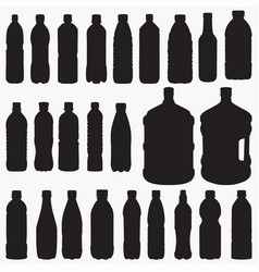 water bottle silhouettes vector image