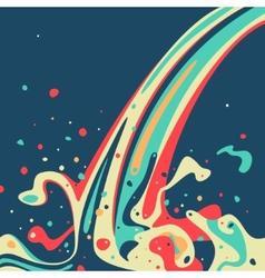 wave color paint vector image