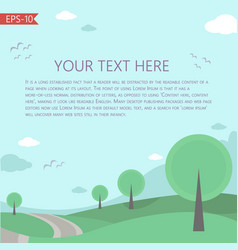 With fairy tale landscape template vector