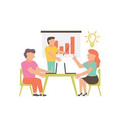 workshop for business design and vector image