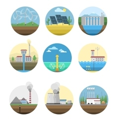 Alternative energy electricity power station vector image
