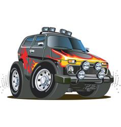 cartoon jeep vector image