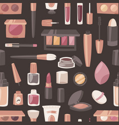 Cosmetic beauty make up cosmetology for vector