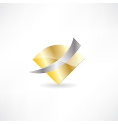 gold metal abstraction icon vector image
