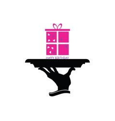 happy birthday gift vector image
