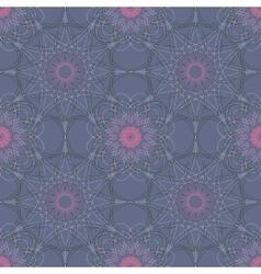 Mandala round geometric ornament seamless pattern vector image