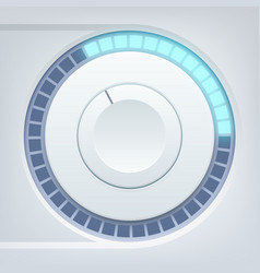 music interface template vector image