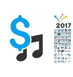 Music Price Icon With 2017 Year Bonus Pictograms vector image