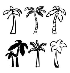 palm icon sketch collection cartoon vector image