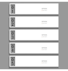 Stylish white Design template vector image