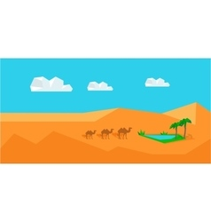 Transportation Goods by Camel Worldwide Warehouse vector image vector image