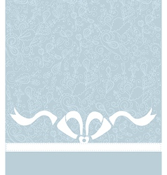 Wedding or celebration background with bow and vector image vector image