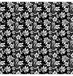 Beautiful intricate retro seamless floral pattern vector image vector image