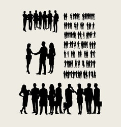 Business Team Silhouettes vector image
