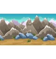 Cartoon Brown Mountains Background vector image vector image