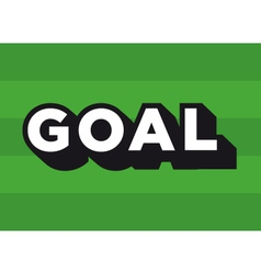 football soccer goal logo vector image