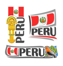 logo for peru vector image