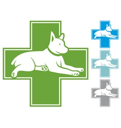 veterinary symbol with dog vector image