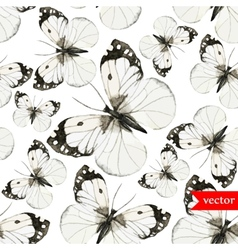 watercolor butterfly red brown pattern vector image vector image