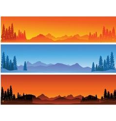 winter banner background vector image