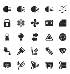 Black Car interface sign and icons vector image vector image