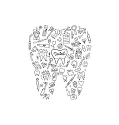 dental clinic concept sketch for your design vector image