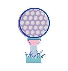 Golf ball play game field vector
